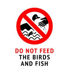 Do not feed birds modern forbidding sticker 10eps vector