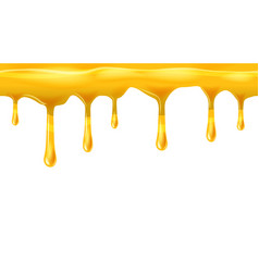 dripping seamless honey yellow dripps liquid vector image