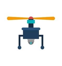 Drone with camera and one airscrew vector