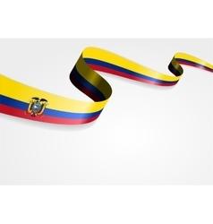 Ecuadorian flag background vector image