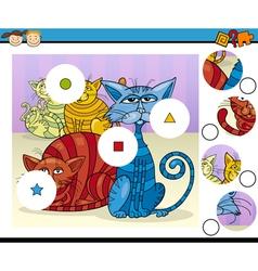 Educational preschool game cartoon vector
