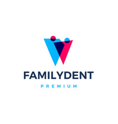 family dental logo icon vector image