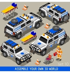 First Aid 02 Vehicle Isometric vector image