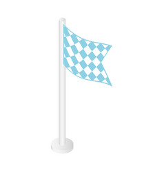 flag of bbq fest icon isometric style vector image