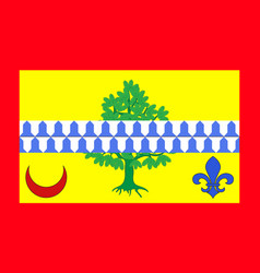 Flag of le raincy in seine-saint-denis france vector