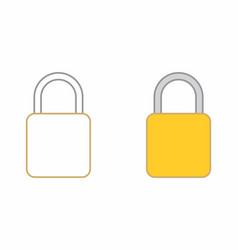 flat padlocks vector image