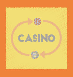 Flat shading style icon casino chips vector