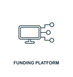 funding platform outline icon thin line element vector image