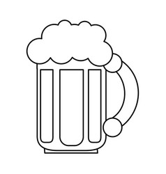 glass of beer icon image vector image