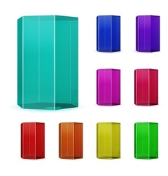 Glass prisms vector
