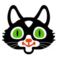 Head of black cats vector image