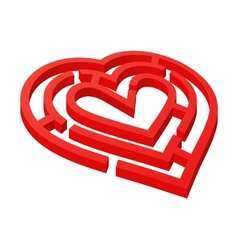 Heart shaped labyrinth vector image