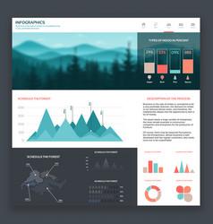 Infographic website vector