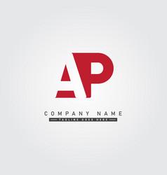 Initial letter ap logo - minimal logo vector