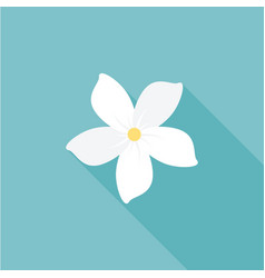 Jasmine flower icon with long shadow vector