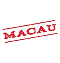 Macau Watermark Stamp vector