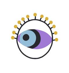 Magic evil eye in circle esoteric spiritual vector