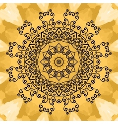 Mandala Print on seamless watercolor texture vector