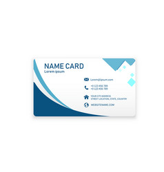 modern blue wave name card image vector image