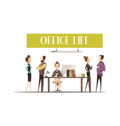 Office life vector