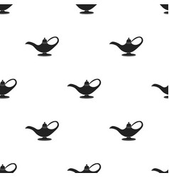 Oil lamp icon in black style isolated on white vector