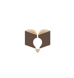 open book with lamp logo vector image