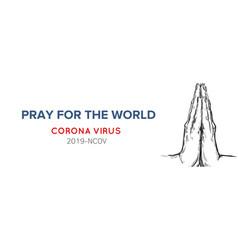 Pray for world handwritten lettering vector