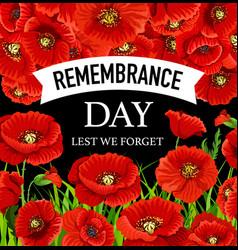 Remembrance day november 11 vector