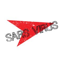 Sars virus rubber stamp vector