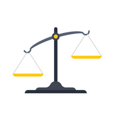 scales justice icon vector image