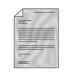 sheet document in colored crayon silhouette vector image