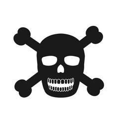 skull and bone danger icon vector image