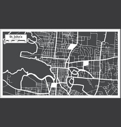 st johns antigua and barbuda city map in black vector image