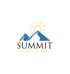 summit logo design template isolated vector image