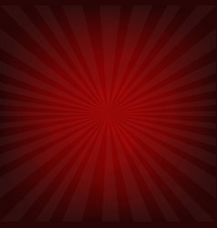 sunburst dark red retro poster vector image