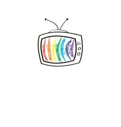 The TV set vector