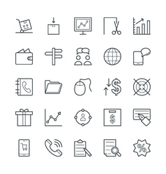 Trade Cool Icons 3 vector image
