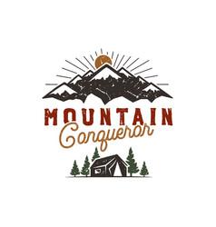traveling outdoor badge scout camp emblem vector image