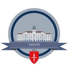 Trieste vector image