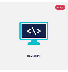 two color develope icon from computer concept vector image
