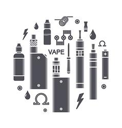 Vape icons vector
