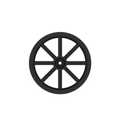 Vintage wooden wheel in black design vector