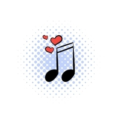 Wedding music comics icon vector