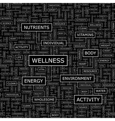 WELLNESS vector image