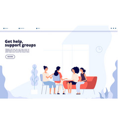Woman therapy females consulting with vector