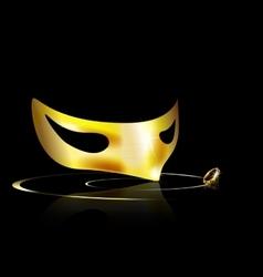 yellow half mask vector image