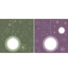 balls for Christmas tree vector image vector image