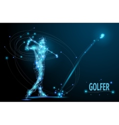 golf player poly vector image vector image