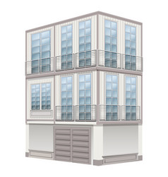 3d design for three storey building vector image vector image
