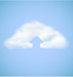 Cloud computing icon with arrow upload vector image vector image